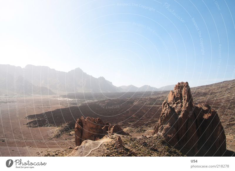 Lava Sonne Sommer Ferien & Urlaub & Reisen Berge u. Gebirge Erde Felsen Insel trocken Dürre Vulkan Expedition Natur bräunlich