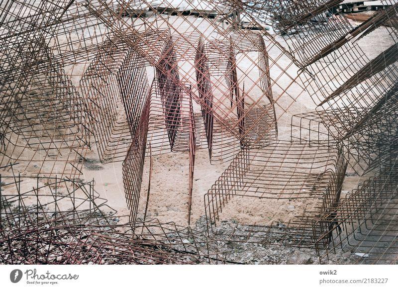 Stabilbaukasten Stadt Metall Baustelle viele fest Gitter komplex Gitterrost