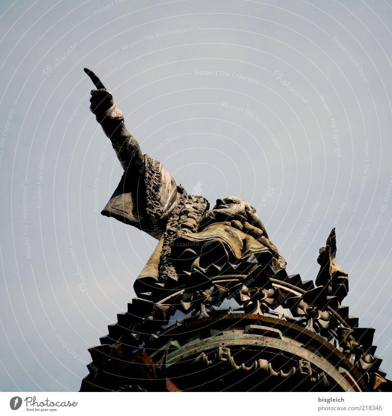 Kolumbus Mensch Mann Erwachsene maskulin Finger Erfolg Europa Bildung Denkmal Mut Leidenschaft Statue Skulptur zeigen Hauptstadt Hinweis