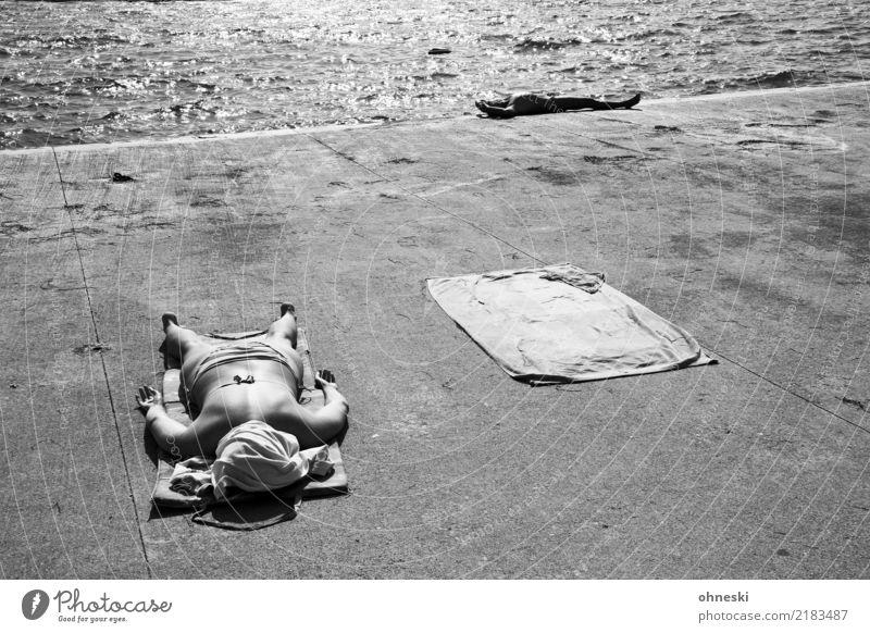 Heat Mensch Frau Ferien & Urlaub & Reisen Jugendliche Mann Sommer Meer Erholung ruhig 18-30 Jahre Erwachsene Lifestyle feminin Tourismus maskulin Körper