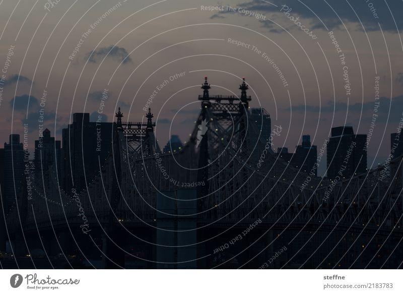 von Queens 08 New York City USA Manhattan Queensborough Brücke Hochhaus Skyline Sommer Stadtleben Sonnenuntergang