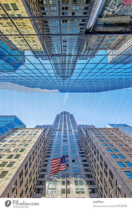 Blick nach oben 6 New York Manhattan Hochhaus Froschperspektive hoch Fassade Midtown chrysler building