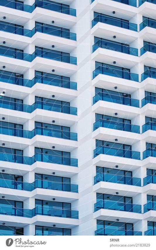 Hochhausfassade Wohnung Haus Gebäude Architektur Fassade Balkon modern neu Außenseite Gebäudeaußenwand Domizil Unterkunft Hinterlegung Quartier Konstruktion