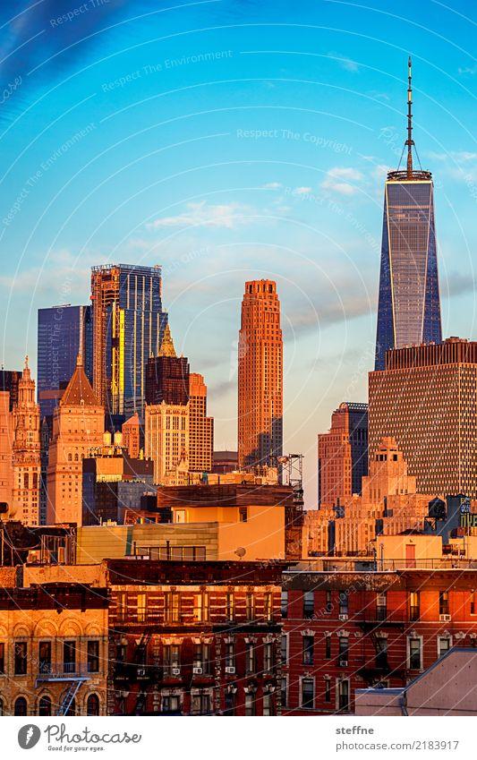 One World Trade Center 03 USA New York City Manhattan Wahrzeichen Sehenswürdigkeit Terrorismus Freiheit Hochhaus Skyline Sonnenaufgang