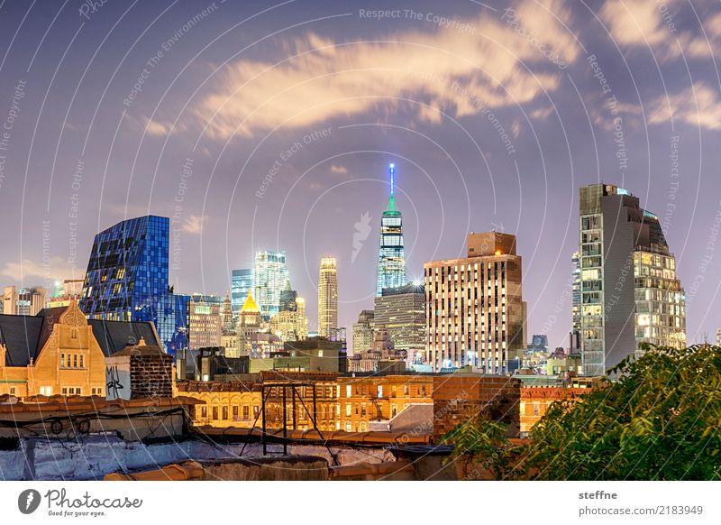One World Trade Center 05 USA New York City Manhattan Wahrzeichen Sehenswürdigkeit Terrorismus Freiheit Hochhaus Skyline Nacht
