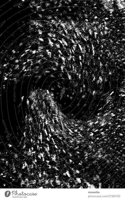 schwarzes Muster - Abstraktes Design weiß Kunst Mode Stimmung retro modern elegant ästhetisch Kraft authentisch Feder einzigartig Coolness
