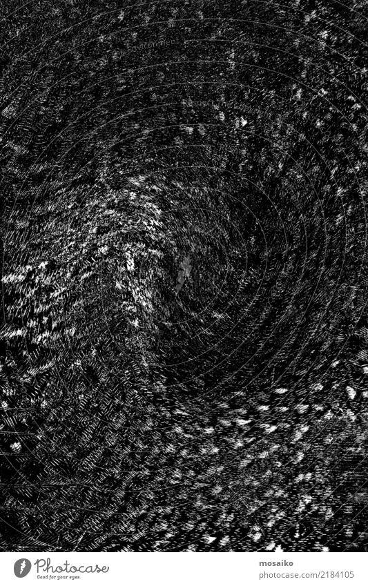 schwarzes Muster - Abstraktes Design weiß Bewegung Stil außergewöhnlich Mode Stimmung wild retro modern ästhetisch Kreativität authentisch Feder bedrohlich
