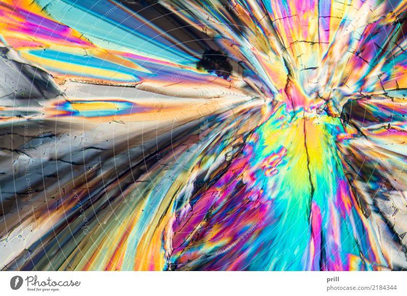 colorful sugar micro crystals Natur Beleuchtung Hintergrundbild außergewöhnlich Wissenschaften leicht Zucker Kristallstrukturen Mineralien künstlich
