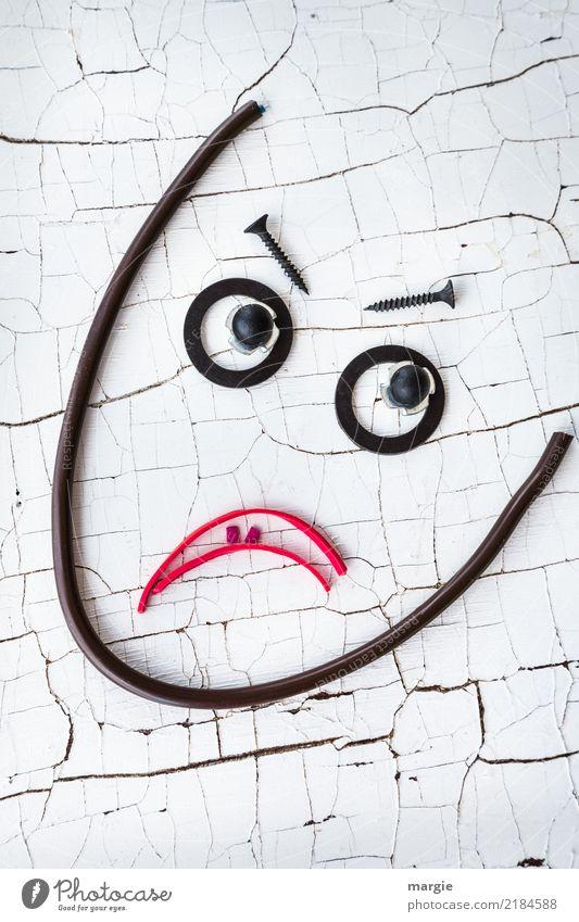 Emotionen...coole Gesichter: Skeptiker Frau Mensch Mann weiß Erwachsene feminin maskulin androgyn