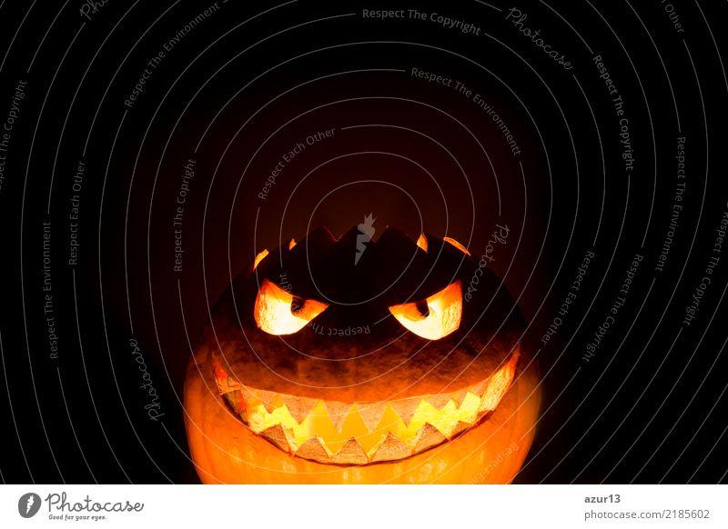Bottom halloween pumpkin smile with hot burning fire eyes mouth Lifestyle Freude Nachtleben Entertainment Party Feste & Feiern Halloween Kunst Kunstwerk Kultur