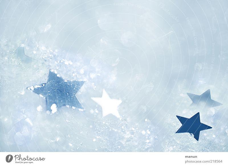Eissterne Weihnachten & Advent schön weiß Winter kalt Schnee Eis hell Feste & Feiern glänzend Hintergrundbild Stern (Symbol) Frost Kitsch Zeichen