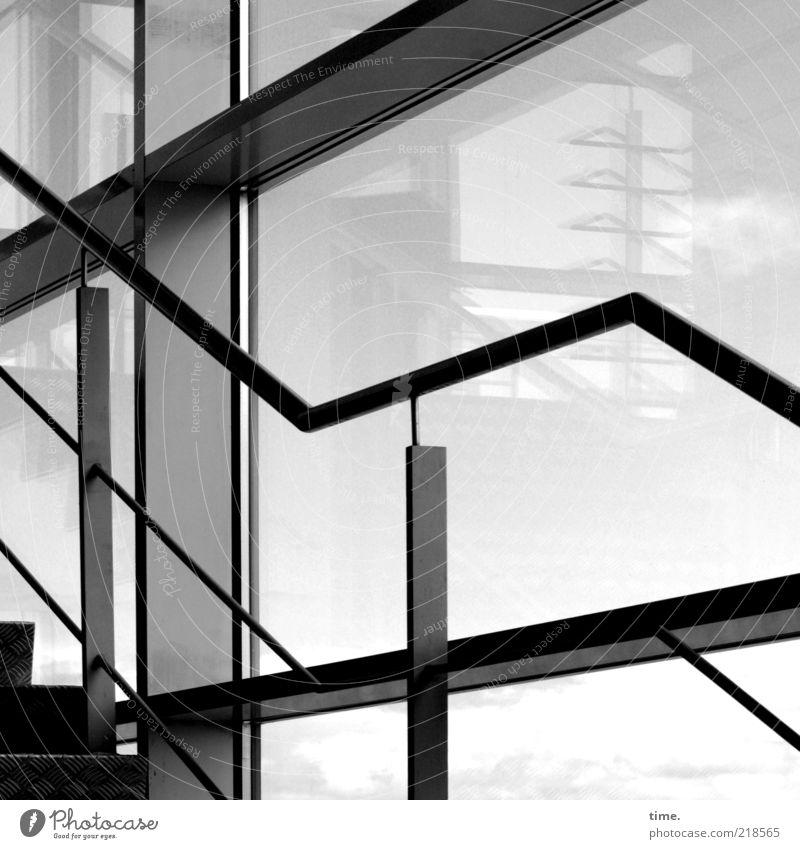 [H10.1] - Direktiven am Set Innenarchitektur Architektur Fenster Glas Metall Perspektive Treppenhaus diagonal parallel Flucht Träger Stahlträger Fensterscheibe