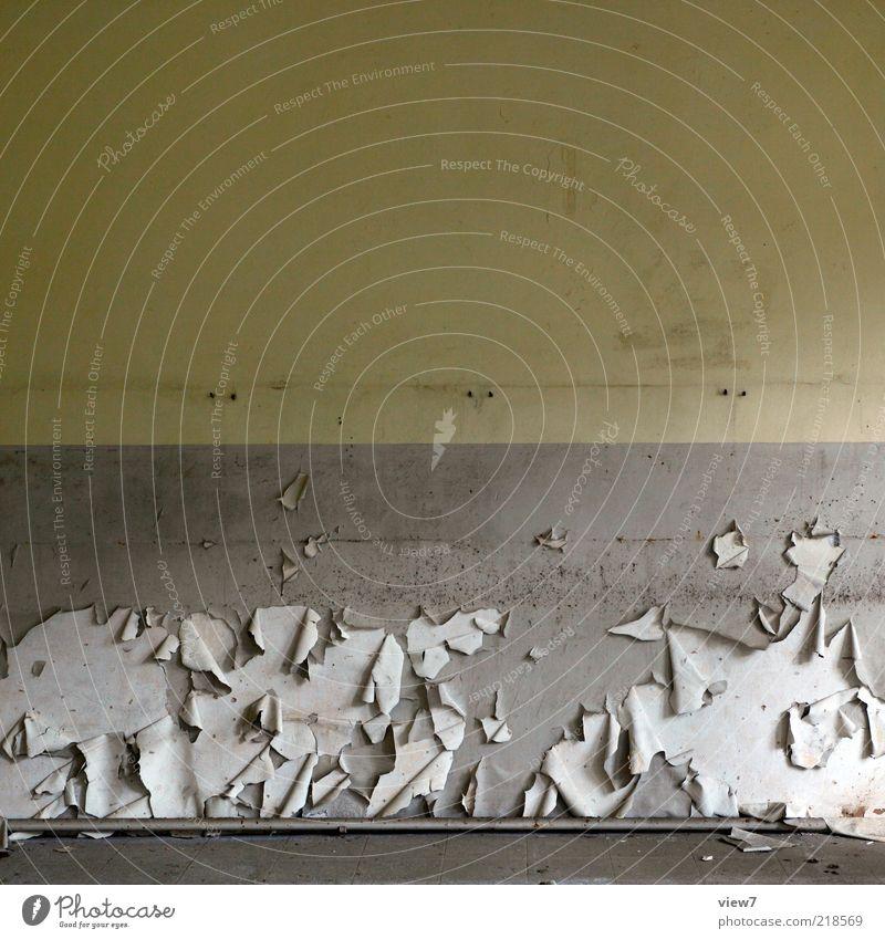 Vergänglichkeit Innenarchitektur Raum Mauer Wand Stein Beton Linie Streifen Aggression alt authentisch einfach elegant oben wild braun Ordnung Perspektive