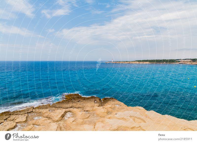 Côte d'azur, Frankreich Cote d'Azur südländisch blau Meer Felsen wild Leuchtturm Ferien & Urlaub & Reisen
