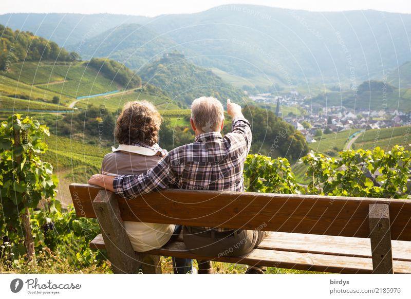 gemeinsam erleben Leben Ausflug Sommer Berge u. Gebirge wandern maskulin feminin Weiblicher Senior Frau Männlicher Senior Mann Paar Partner 2 Mensch