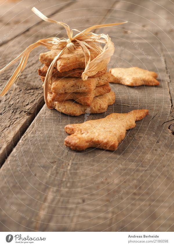 Plätzchen Teigwaren Backwaren Kuchen Süßwaren Bioprodukte Winter Feste & Feiern Weihnachten & Advent lecker süß braun gold cookies decoration food homemade