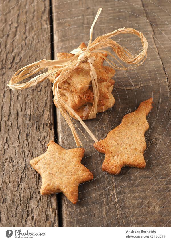 Weihnachtsgebäck Weihnachten & Advent Winter Feste & Feiern braun gold Kreativität süß Geschenk Stern (Symbol) lecker Süßwaren Bioprodukte Kuchen Weihnachtsbaum