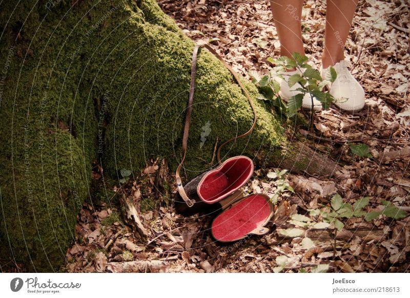 red dress Freizeit & Hobby Ausflug Sommer Frau Erwachsene Leben Beine Fuß 1 Mensch Natur Schuhe beobachten entdecken Blick wandern trendy einzigartig schön rot