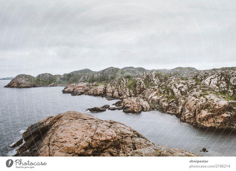 Lindesnes, Norwegen Natur Landschaft Urelemente Erde Wasser Himmel Wolken Klimawandel Felsen Küste Seeufer Bucht Fjord Nordsee Norwegenurlaub Europa Fischerdorf