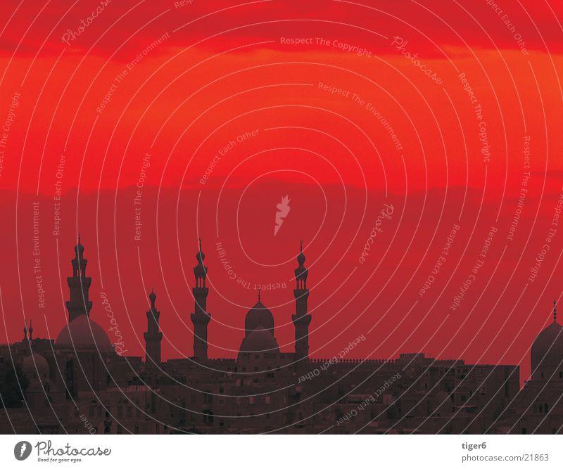 Kairo im Sonnenuntergang Ferien & Urlaub & Reisen Kultur Philosophie Ägypten Moral Roter Himmel