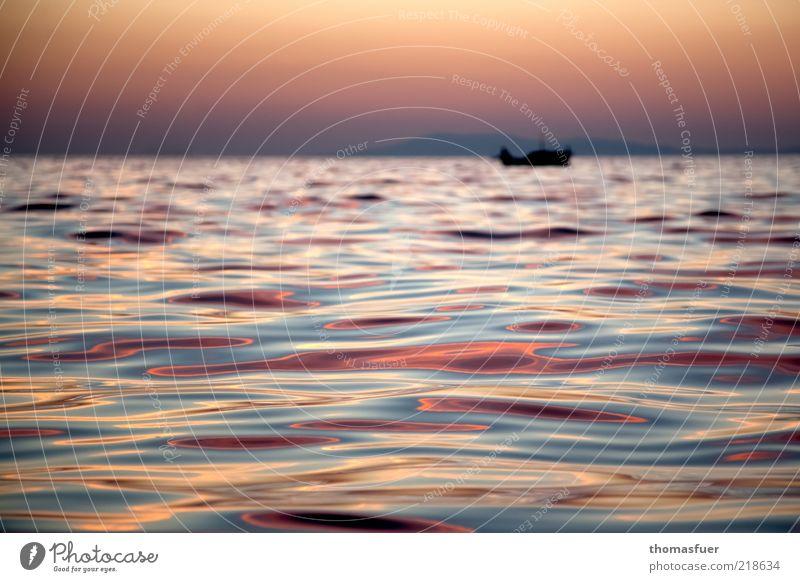 rotes Meer Meer rot Sommer Ferien & Urlaub & Reisen ruhig Einsamkeit Ferne Freiheit Wellen glänzend rosa Horizont Ausflug Insel Romantik genießen