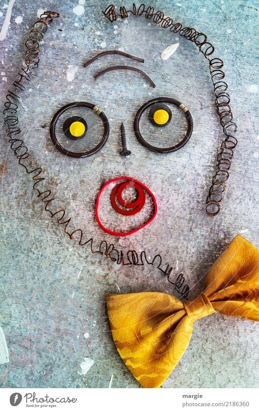 Emotionen...coole Gesichter: Banker Mensch Mann Auge Erwachsene gelb maskulin Mund