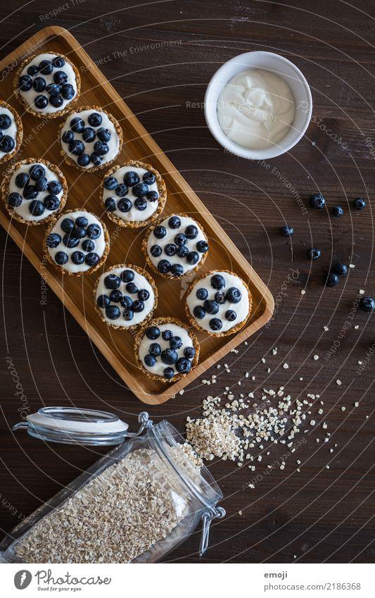 oatmeal cups Frucht Ernährung süß lecker Frühstück Dessert Blaubeeren Büffet Brunch Haferflocken
