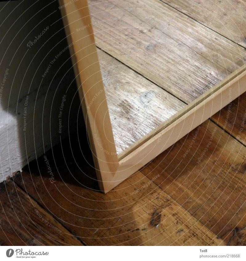 florror weiß neu Bodenbelag Häusliches Leben Spiegel Holzbrett Parkett Lichtspiel Spiegelbild Maserung Holzleiste Dielenboden