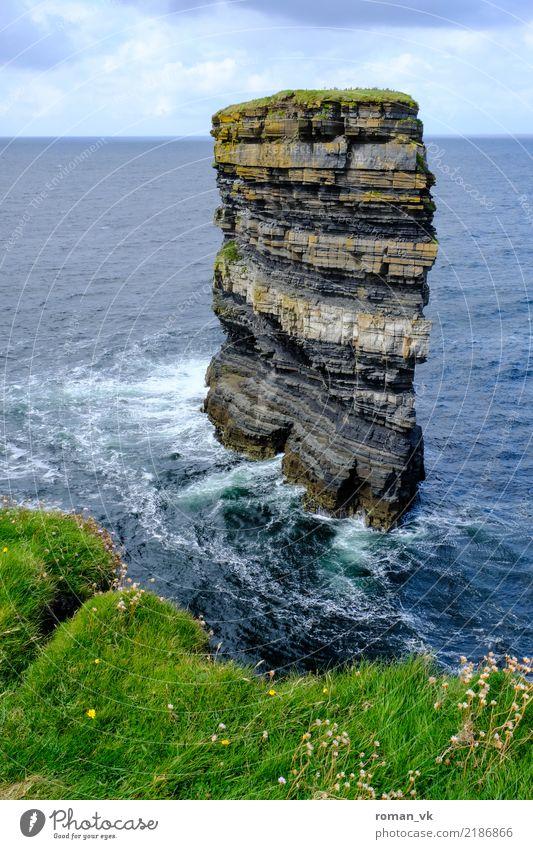 St. Patricks Head Natur Sommer Wasser Landschaft Meer Einsamkeit Tier Wiese Küste Gras Stein Felsen Horizont Wellen Wind gefährlich