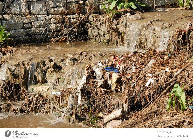 Natur Umwelt dreckig Industrie Fluss Müll Teich Ekel Bach Abfluss Umweltverschmutzung Abwasserkanal künstlich Wasserrinne Verwesung sanitär