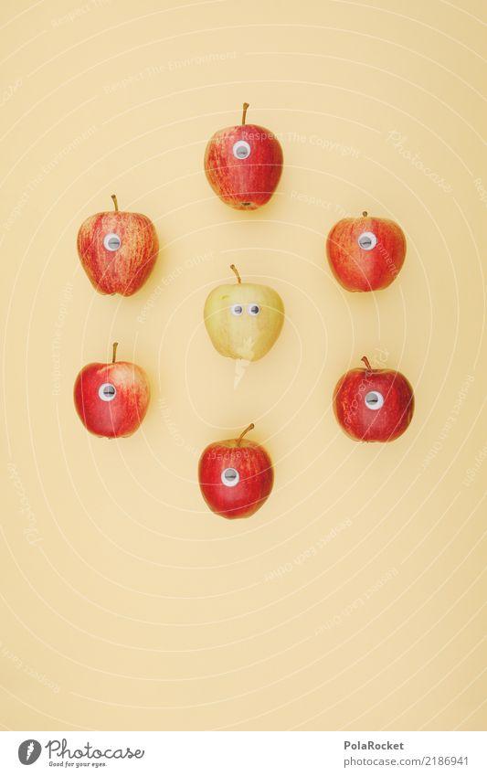 #A# anders Lebensmittel Kitsch außergewöhnlich Ausländer exotisch Apfel Apfelernte Auge süß rot grün fremd Fremder Fremdsprache fremdartig Fremdenverkehrsamt