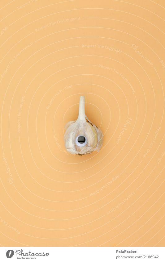 #A# Mr. Knobi Kunst ästhetisch Knoblauch Knoblauchzehe Knoblauchknolle Knoblauchsland Auge süß niedlich Blick Farbfoto Gedeckte Farben Innenaufnahme