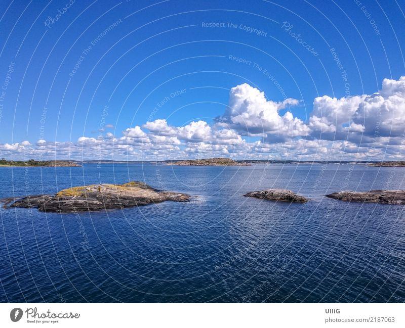 Kosterfjord vor der Insel Süd-Koster (Sydkoster), Bohuslän, Schweden. Koster Fjord Kosterfjorden Schärengarten Natur Küste Landschaft Skagerrak Sverige