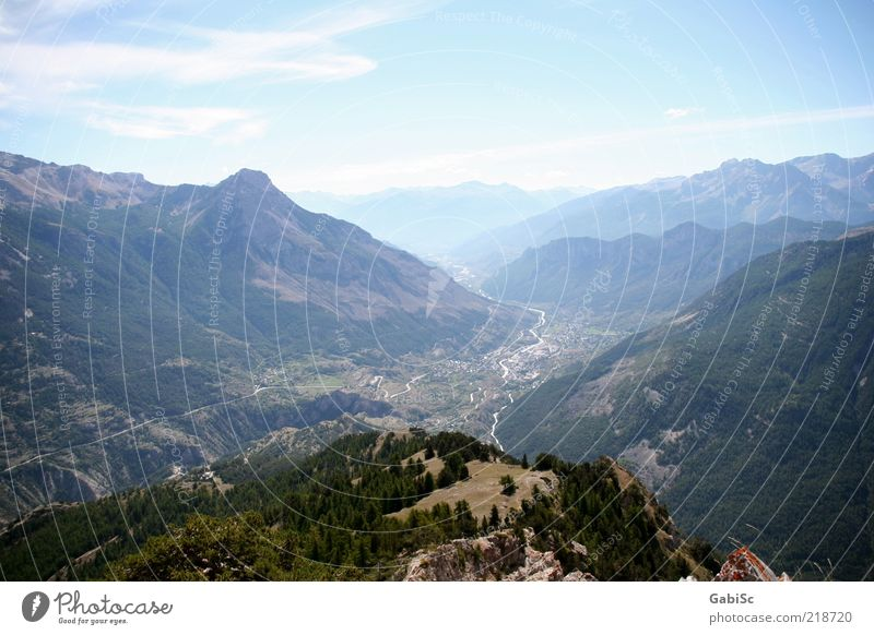 Les vigneux, Französische Alpen Sommer Ferne Erholung Berge u. Gebirge Landschaft Zufriedenheit Fröhlichkeit Lebensfreude Gipfel entdecken Schönes Wetter