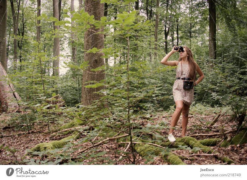 jugend forscht 04 Frau Mensch Natur Jugendliche schön Baum Pflanze Ferien & Urlaub & Reisen Sommer Erwachsene Wald Leben Freiheit Freizeit & Hobby Abenteuer
