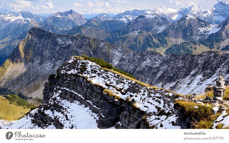 Sonniger Herbstbeginn im Karwendel Himmel Natur Sonne Landschaft Wolken Berge u. Gebirge Umwelt Sport Freiheit Felsen Freizeit & Hobby wandern Wetter Fahrrad