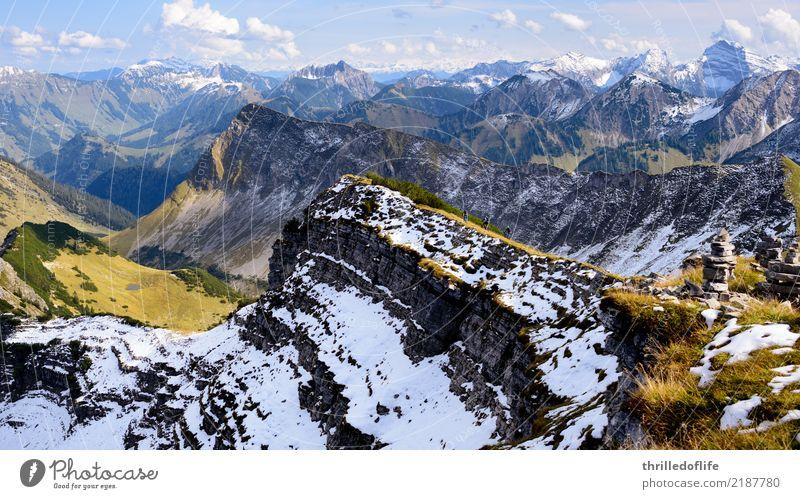 Sonniger Herbstbeginn im Karwendel Freizeit & Hobby Ferien & Urlaub & Reisen Tourismus Abenteuer Fahrradtour Schnee Berge u. Gebirge Fahrradfahren wandern