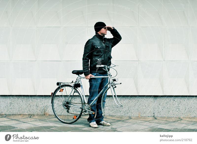 bike for your right Mensch Mann Wege & Pfade Fahrrad warten Erwachsene maskulin Suche Verkehr Zukunft kaputt Freizeit & Hobby Hilfsbereitschaft außergewöhnlich