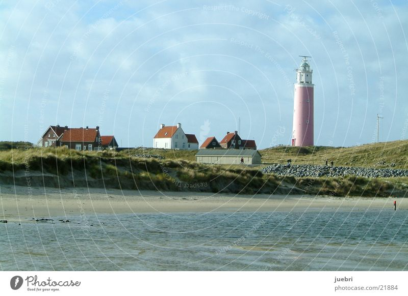 Leuchtturm Strand Haus Wasser Stranddüne Nordsee
