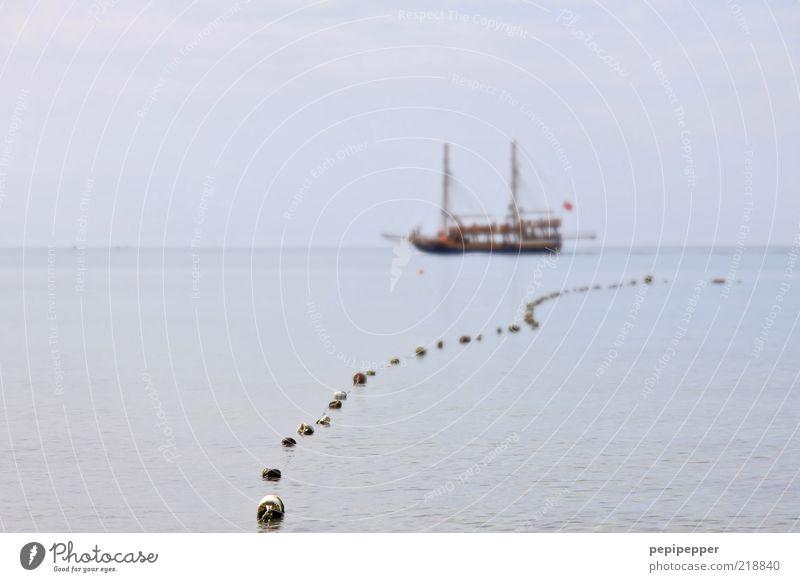 –__I__I___– Angeln Abenteuer Ferne Freiheit Sommer Meer Wellen Segeln Wasser Schönes Wetter Wind Küste Nordsee Ostsee Farbfoto Außenaufnahme Tag Silhouette