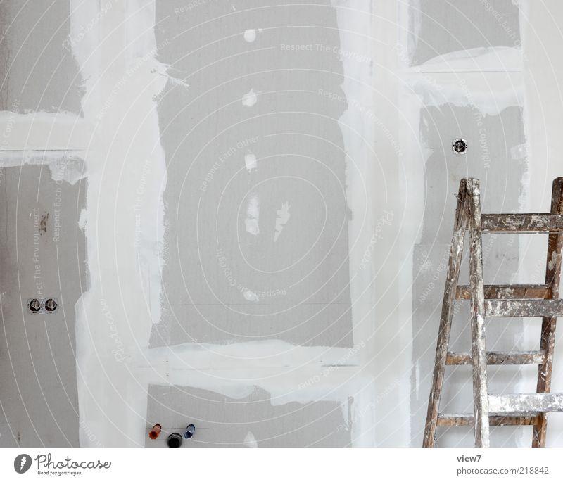 Innenausbau Haus Wand Linie dreckig modern authentisch einfach Baustelle dünn Streifen Innenarchitektur machen Handwerk Leiter bauen