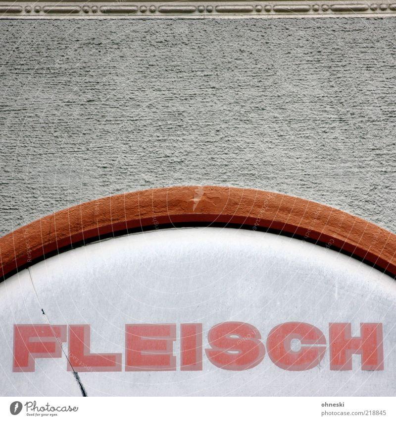 Mahlzeit Haus Ernährung Wand Mauer Lebensmittel Schilder & Markierungen Fassade Schriftzeichen Buchstaben Bauwerk Typographie Fleisch Wort Rahmen Putzfassade