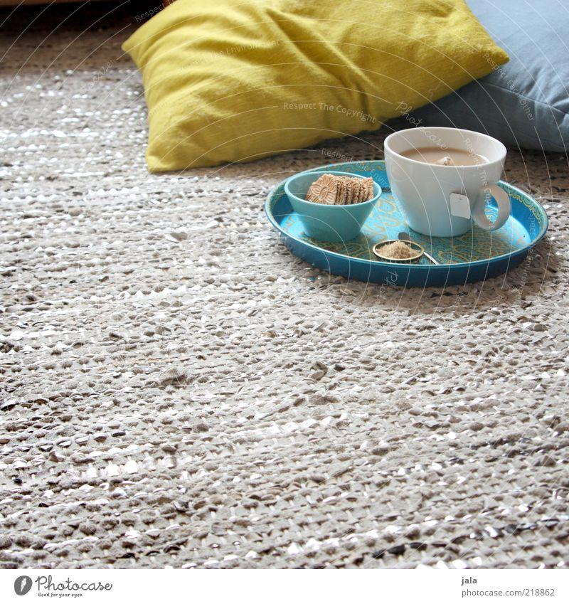 tee für mich weiß grün blau ruhig Ernährung Erholung grau Zufriedenheit Wohnung Lebensmittel Getränk Wellness Boden Häusliches Leben Tee lecker