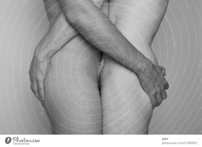zusammen Mann Erotik Liebe Paar Zusammensein Zufriedenheit Kraft berühren festhalten Zusammenhalt Vertrauen Leidenschaft Gesäß Partnerschaft Verliebtheit
