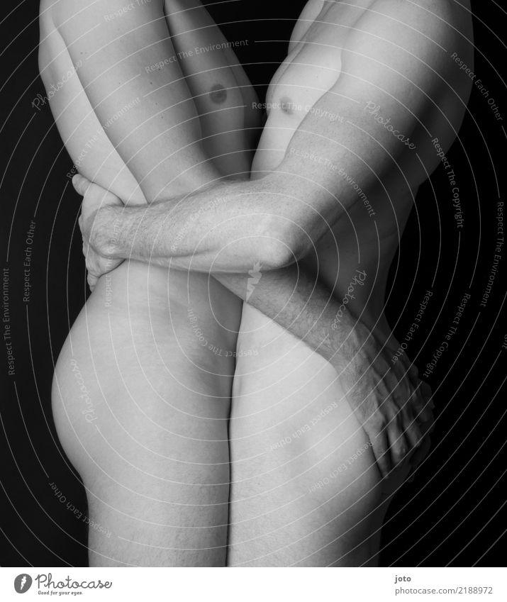 Gleichgeschlechtliche Liebe maskulin Homosexualität Junger Mann Jugendliche Erwachsene Paar Partner Gesäß Zufriedenheit Leidenschaft Akzeptanz Vertrauen
