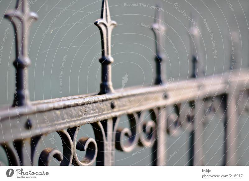 da hat wohl jemand lange keinen Besuch mehr gehabt.... alt grau Stil Metall elegant Design Dekoration & Verzierung Häusliches Leben Vergänglichkeit Spitze Tor