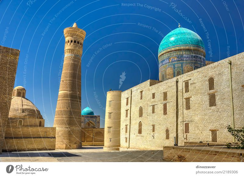 Kalyan-Minarett und Kalyan-Moschee, Bukhara Stil Design Tourismus Dekoration & Verzierung Stadt Altstadt Architektur Ornament alt groß Farbe Religion & Glaube