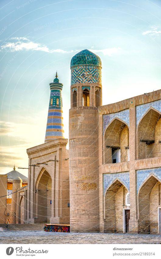 Altstadt von Chiwa, Usbekistan alt Stadt Farbe Architektur Religion & Glaube Stil Kunst Tourismus Design Dekoration & Verzierung groß Asien Tradition Mitte