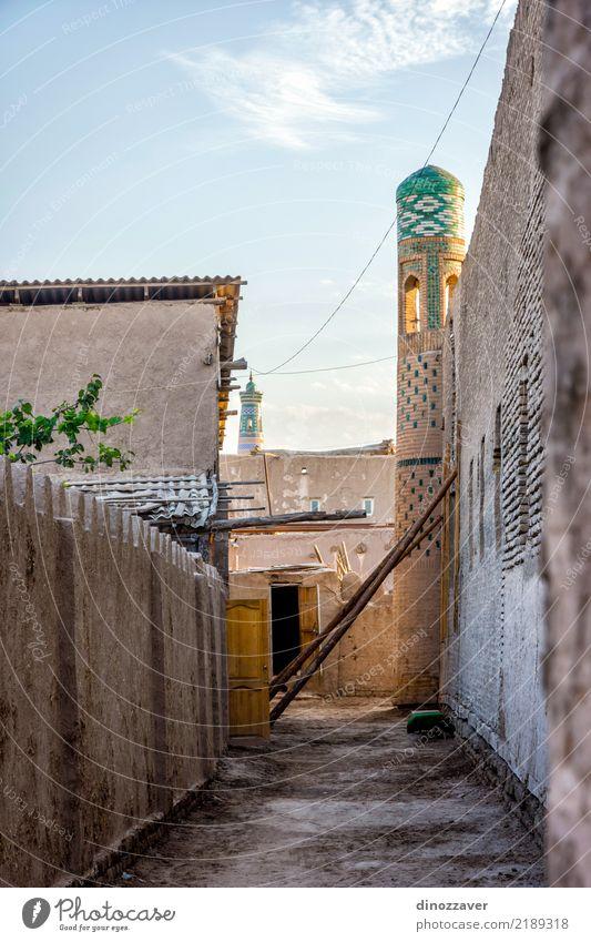 Straßen von Chiwa, Usbekistan Stil Design Tourismus Dekoration & Verzierung Kunst Stadt Stadtzentrum Altstadt Architektur Ornament alt groß Farbe