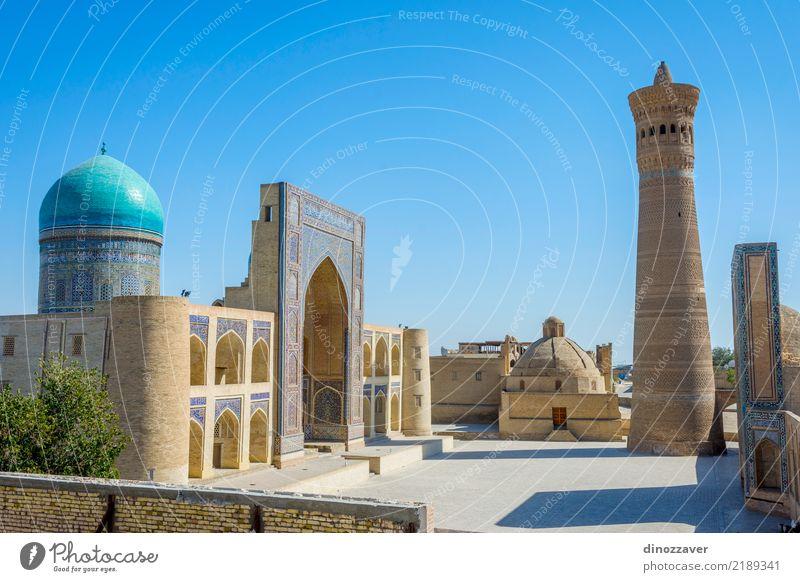Kalyan Minarett und Mir ich arabische Moschee, Buchara Design Ferien & Urlaub & Reisen Kunst Kultur Gebäude Architektur Fassade Denkmal Backstein Ornament Farbe